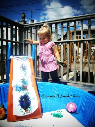 Take messy play outside to keep things cleaner inside!