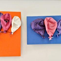 Balloon Birthday Card Upcycled Craft