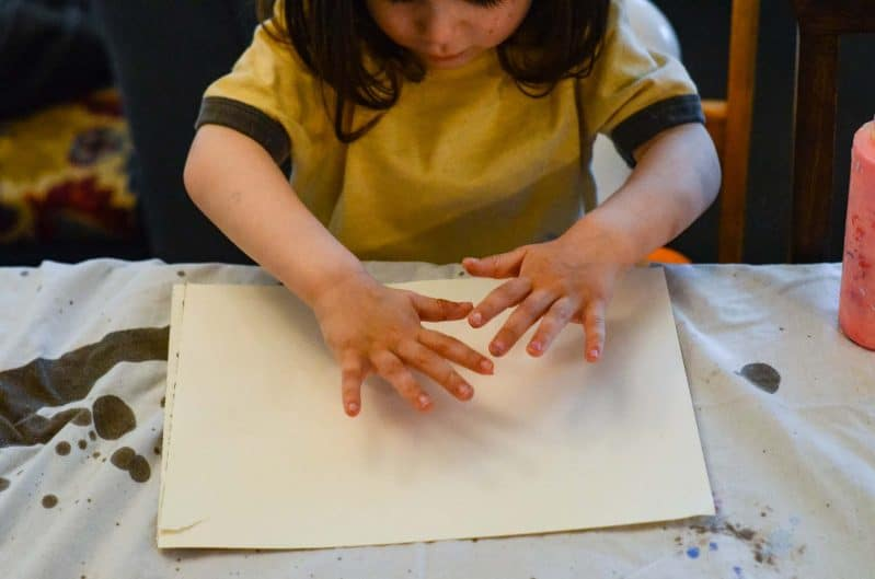Turn your painting activity into process art!