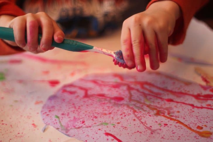 Try Easter egg splatter painting for a fun art activity with a fine motor twist!