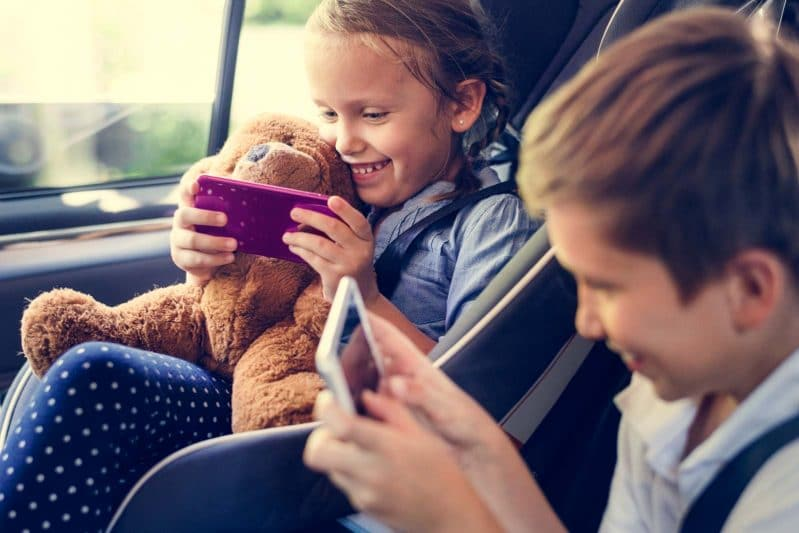 It's okay to bust out the screens to keep kids entertained on road trips or plane rides!
