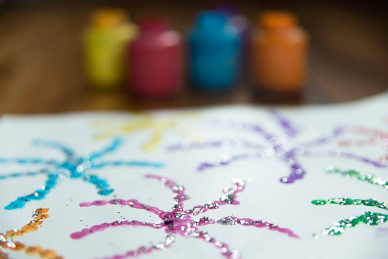 Try finger painting fireworks for the Fourth of July!