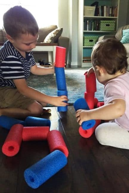 Have a fun day inside with a simple toys, used 3 different ways!