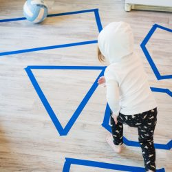 What Shapes Does it Land On Activity for Toddlers