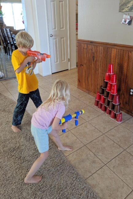 Ready, aim, target practice! You'll love this creative twist on a classic Nerf gun activity!