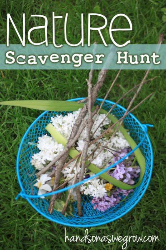 Go on a nature scavenger hunt with your kids! What will you find?
