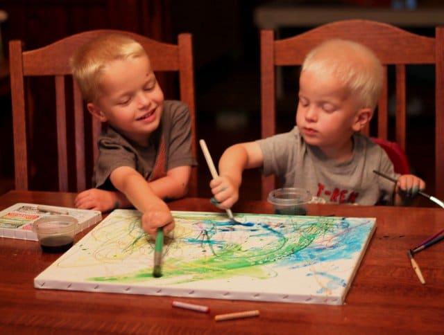 Oil Pastels Resist Watercolor art