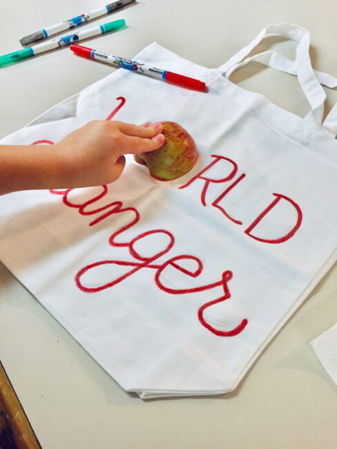 Your child will love using real food to make this fun present!