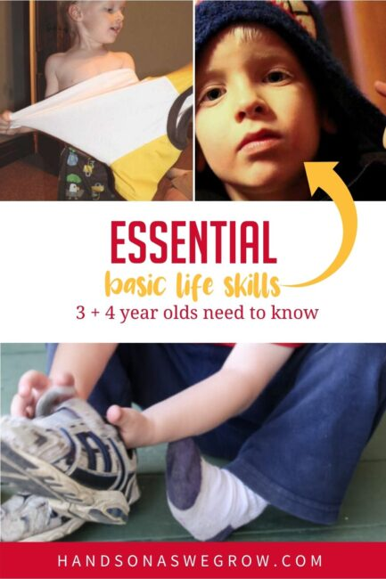 Before heading off to preschool, your four year old should know these basic life skills!