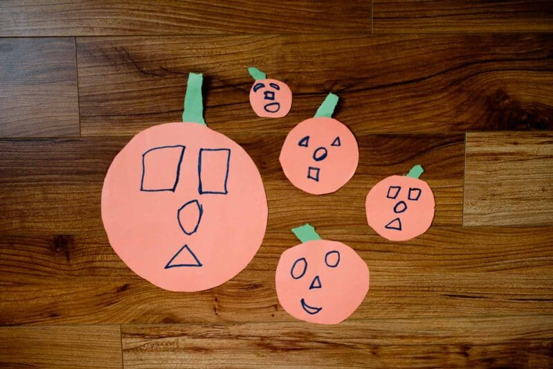 We love our one minute pumpkin family tracing craft!