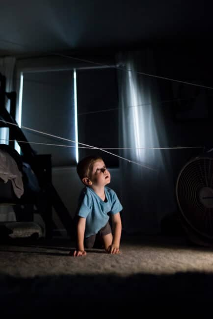 Turn off the lights for a fun Halloween spider hunt in the dark!