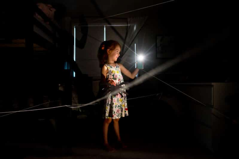 Go on a fun (not spooky) spider hunt in the dark! No real spiders involved!