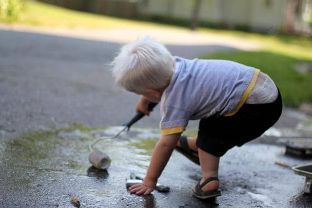 What different ways will your kids find to play with water?