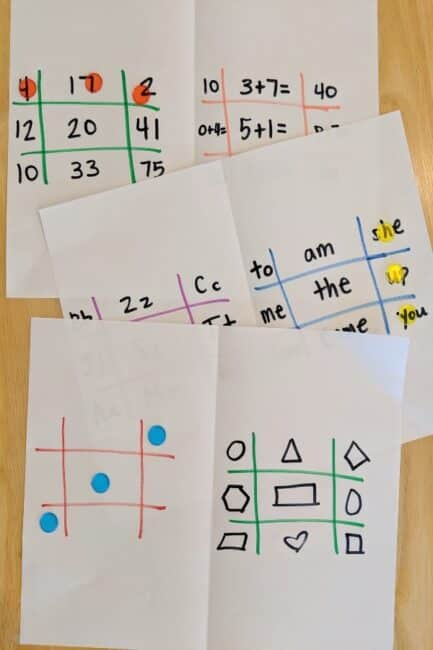 Make learning fun with a. simple twist on tic-tac-toe!