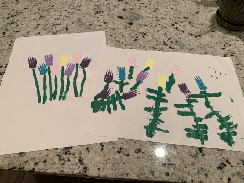 Bring some spring blooms into the dead of winter with a painting forks activity!