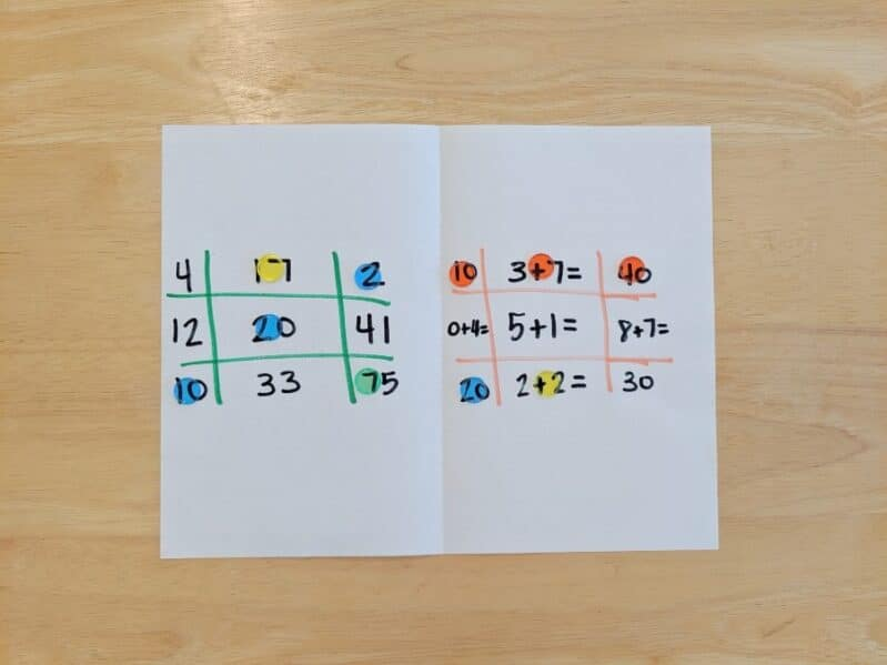 Work on math skills with a fun tic-tac-toe activity!