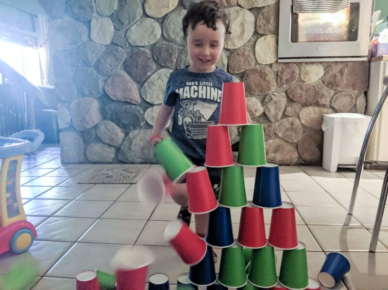 Melinda, our MOTM, loves this quick set up cup stacking challenge!