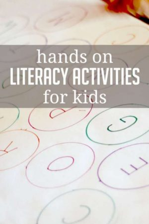 Lots of fun literacy activities for kids to do! So much fun!