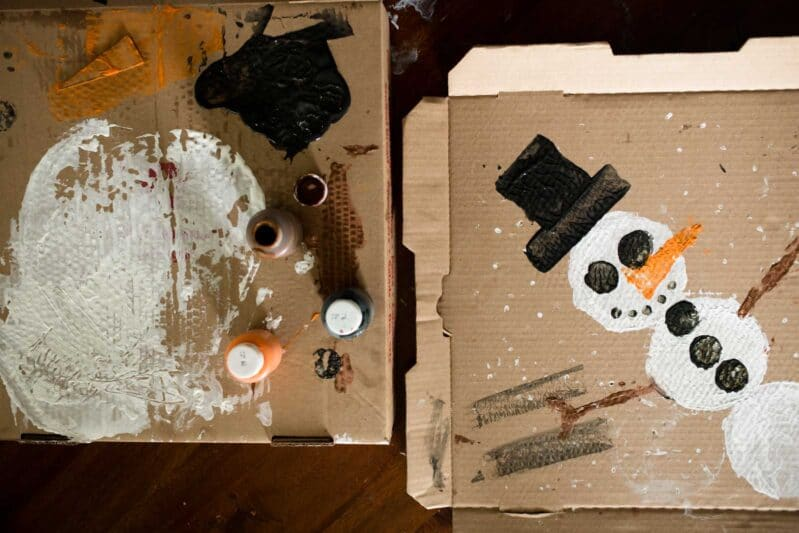 DIY a bit of winter with a fun recycling art activity!