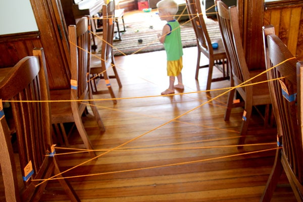 Follow the S's and you'll make a spider web!