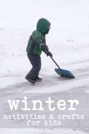 Lots of winter crafts & activities for kids to do