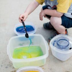 Colored Water Transfer Play