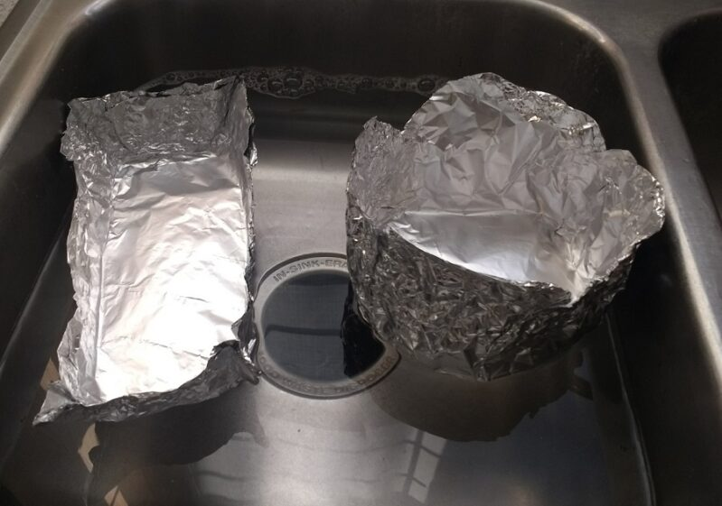 Will your empty tin foil boat float or sink?