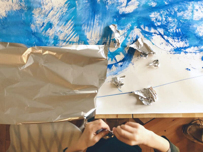 Add tin foil or other materials to make your art 3D!