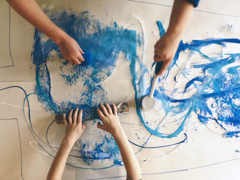 Get creative as your children explore art through non-traditional painting tools!