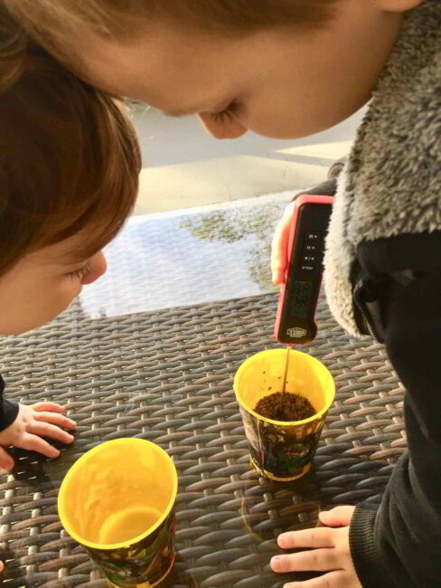 How does heat or cold change dirt and water?