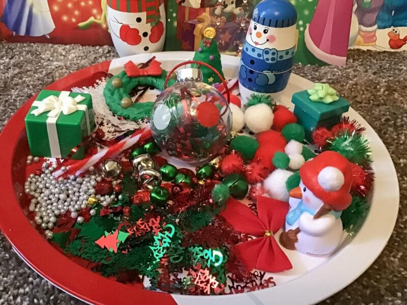 Use crafting supplies from around your house to create your own custom filled Christmas ornaments to gift or keep!