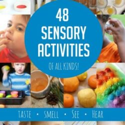 48 sensory activities from Hands On As We Grow