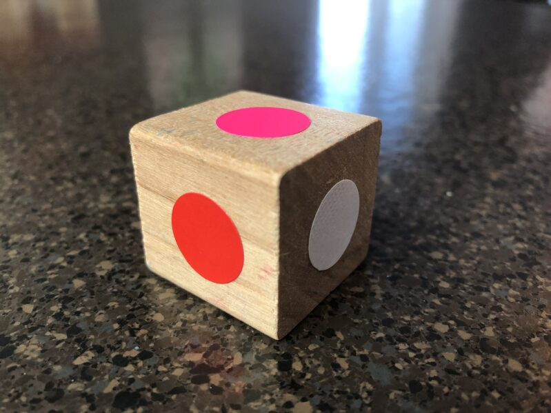 DIY a colorful dice for Valentine's day fun!
