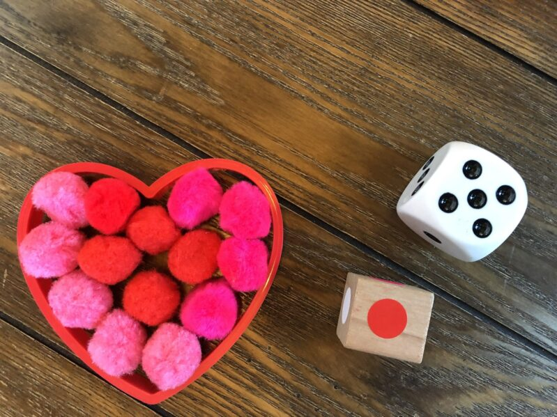Play a quick and easy counting game for Valentine's Day with your kids!