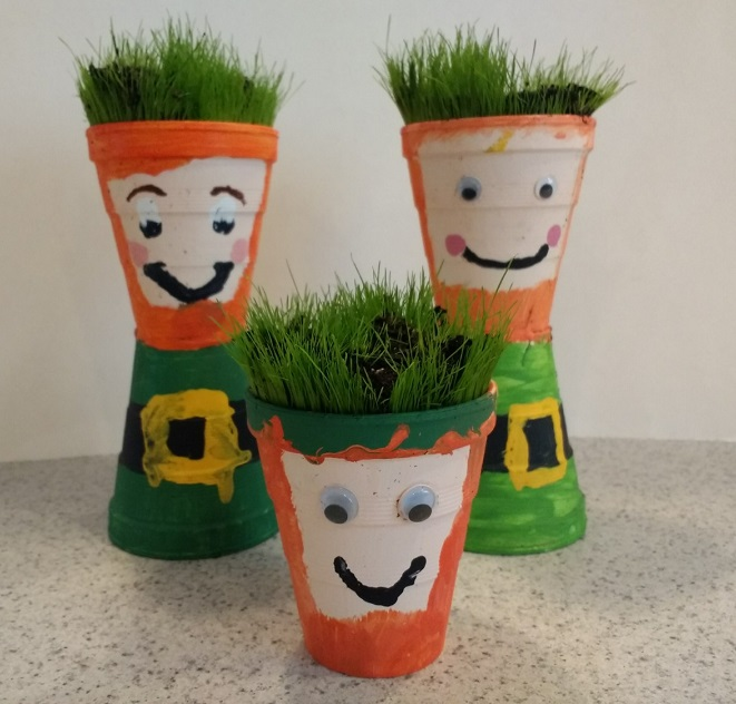 Cute and easy planters for St. Patrick's Day!