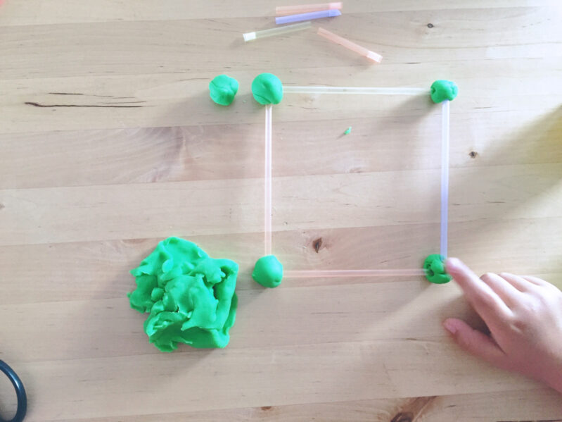 Build creative play dough straw buildings with a fun activity from Member of the Month Ashley!