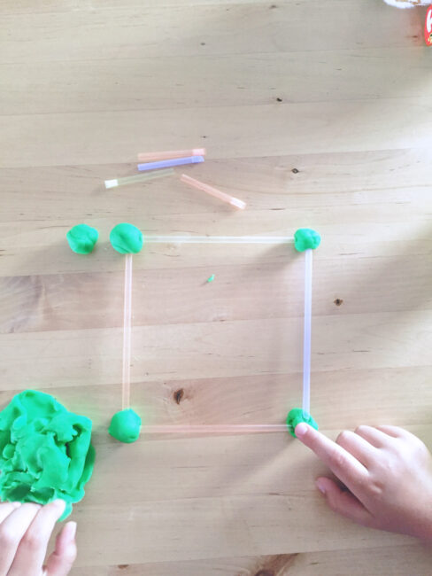 Our Member of the Month Ashley loves this hands-on building activity for little ones!