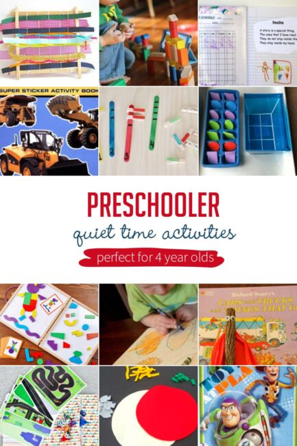 DIY a perfect quiet time with these easy, fun and genius busy play activities and ideas for toddlers and preschoolers especially perfect for 4 year old's.
