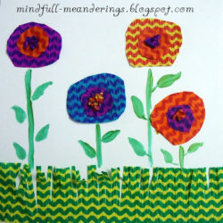 Arsty Craftsy Mom- Crepe Paper Flower Card
