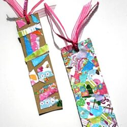 Buggy and Buddy- Tear Art Bookmark