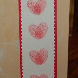 Crafts For All Seasons- Thumbprint Heart Bookmark