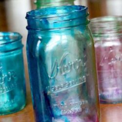 Hands On As We Grow- Tinted Mason Jar Pencil Holder