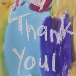Happy Hooligans- Crayon Resist Thank You Card