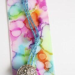 Happy Hooligans- Sharpie Tie Dye Bookmark