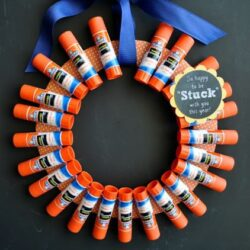 I Heart Crafty Things- Glue Stick Wreath