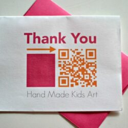 Kids Steam Lab- QR Code Thank You Card