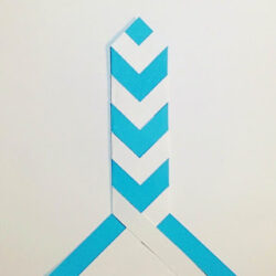 My Thoughts Exactly- Chevron Braided Bookmark
