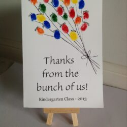 Paging Fun Mums- Fingerprint Balloons Card