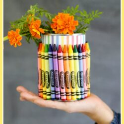 Sugar Bee Crafts- Crayon Vase