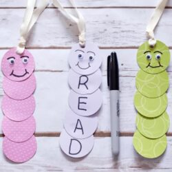 The Spruce Crafts- Bookworm Bookmarks